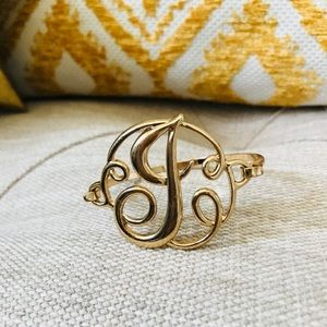 Jewelry - 🎁NEW🎁Monogram J Gold Bangle!